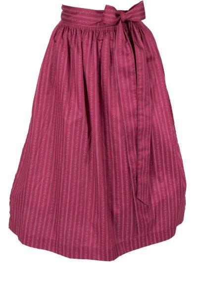 Dirndlschürze aus Baumwolle in burgund