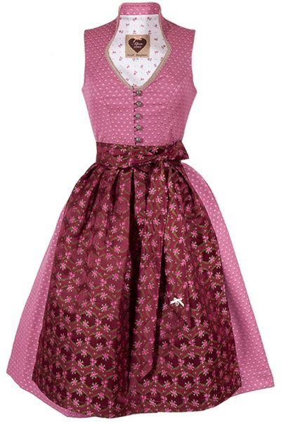 Designer Dirndl Paula von Alpenherz in rosa und beere