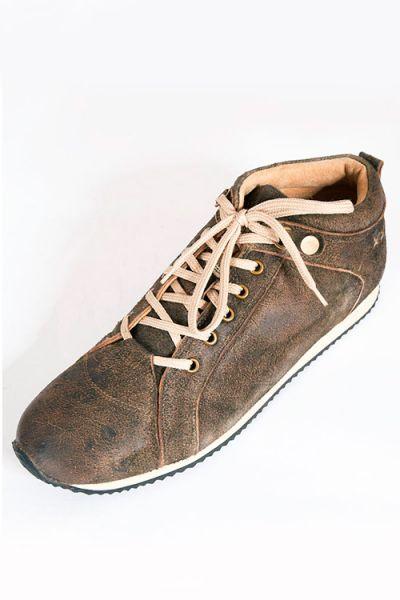 Herren Trachten Sneaker aus Leder in braun