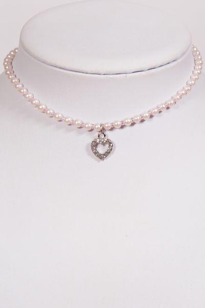 Kinder Trachtenkette rosa Perlenkette