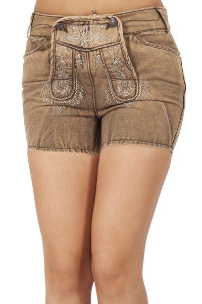Trachten Jeans Shorts Ilsa in sand von Lekra
