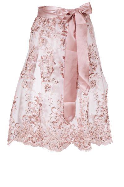 Spitzenschürze rosa mit Pailletten