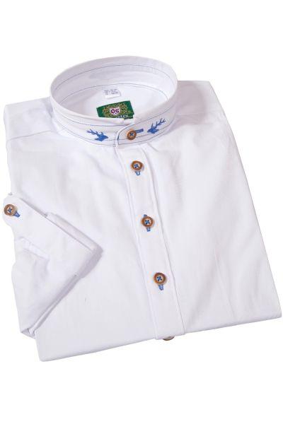 Kinder Trachtenhemd in weiß mit Stehkragen