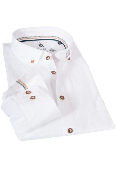 Herren Trachten Hemd in weiß mit Strukturmuster