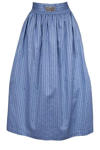 Lange Dirndlschürze aus Baumwolle in blau