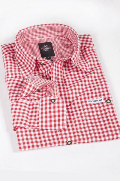 Trachtenhemd rot weiß kariert stockerpoint 1
