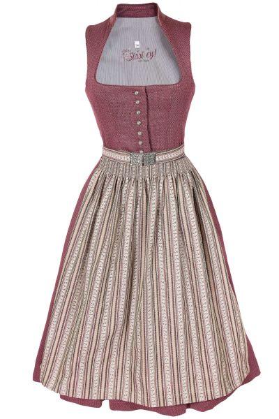 Midi Dirndl in altrosa im Vintage Stil