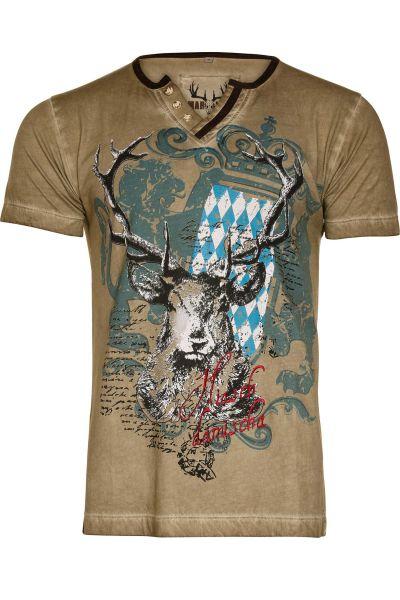 Trachten Shirt Fabian Bavaria in oliv