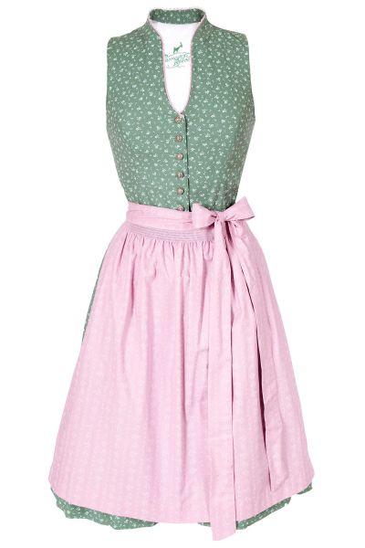 Midi Dirndl Vanessa in schilfgrün und rosa