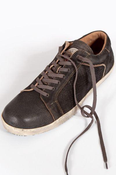 Herren Trachten Sneaker in graphit aus Leder