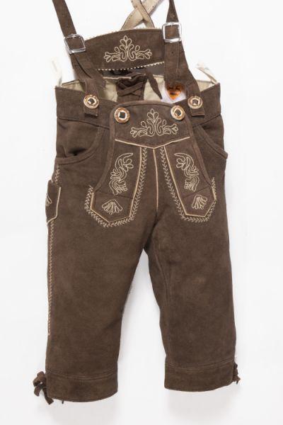 Kinder Lederhose als Kniebundhose mit Träger 1
