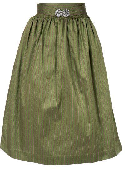 Dirndlschürze Midi aus Baumwolle in olivgrün