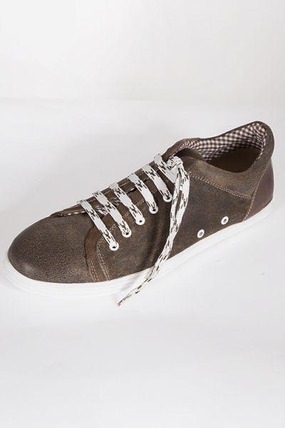 Trachten Schuhe für Herren als Sneaker in braun  vorn