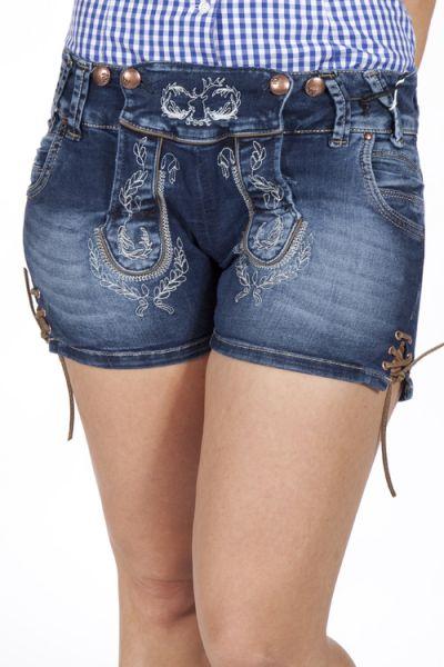 Trachtenshorts aus Jeans für Damen und Madln 1