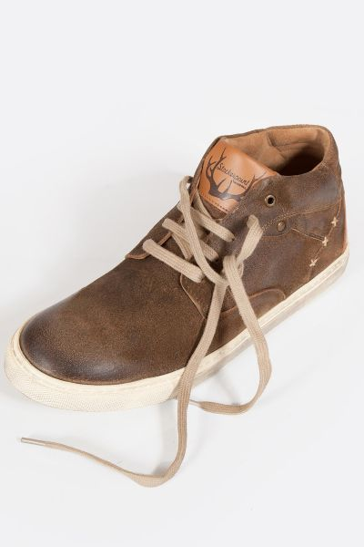 Herren Trachten Schuhe als Leder Sneaker in braun