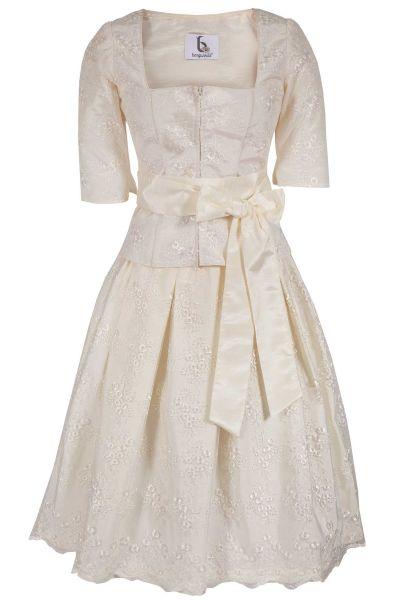 Hochzeitskleid als Trachtenkleid in creme 2-teilig