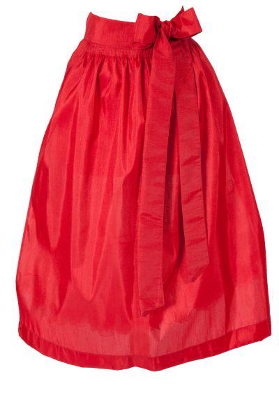 Dirndlschürze aus Taft in rot mit Glanz