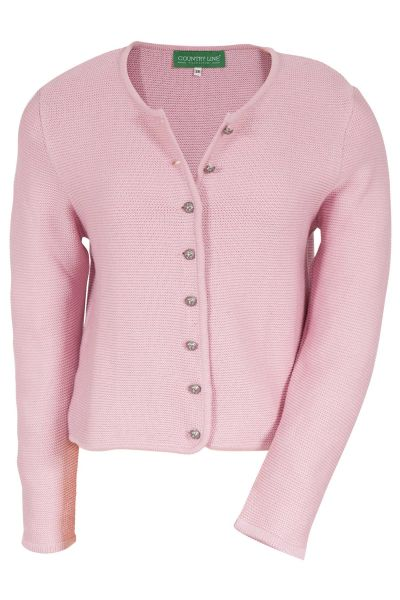 Damen Trachten Strickjacke in rosa