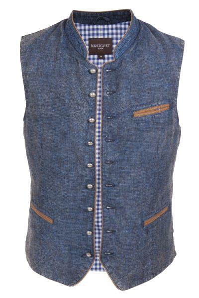 Trachtenweste im Jeans Look blau von KRÜGER bei WIRKES