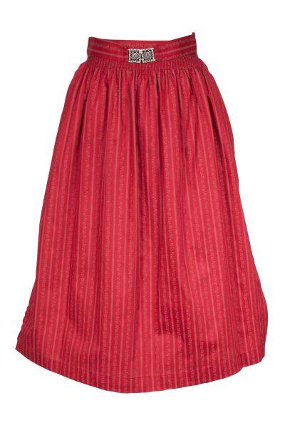 Dirndlschürze Midi aus Baumwolle in rot